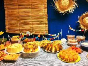 festa junina mesa decoração